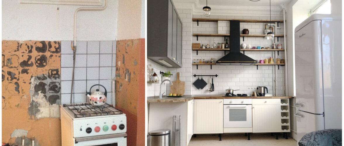 Remont stalinistlikus majas: köök enne ja pärast totaalset muutumist