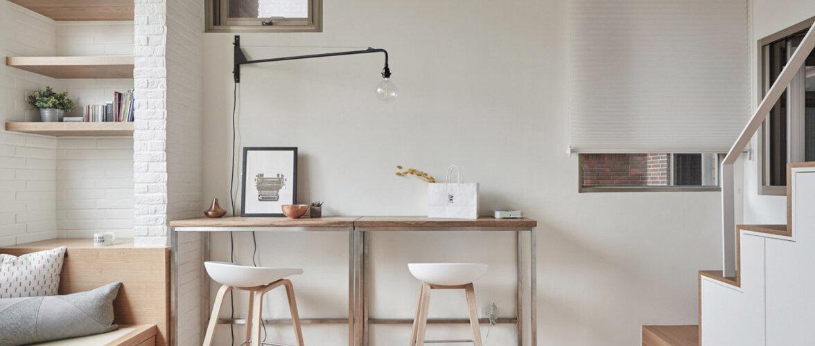 Kavalalt sisustatud miniatuurne korter pakub häid sisustusideid