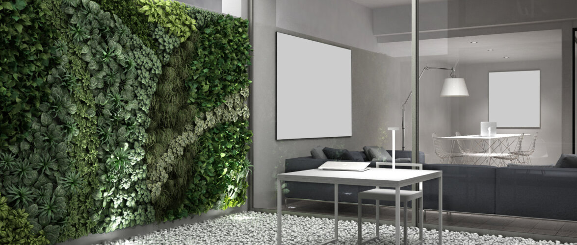 Vertikaalaiad interjööris — kuidas seinad taimede abil elama panna