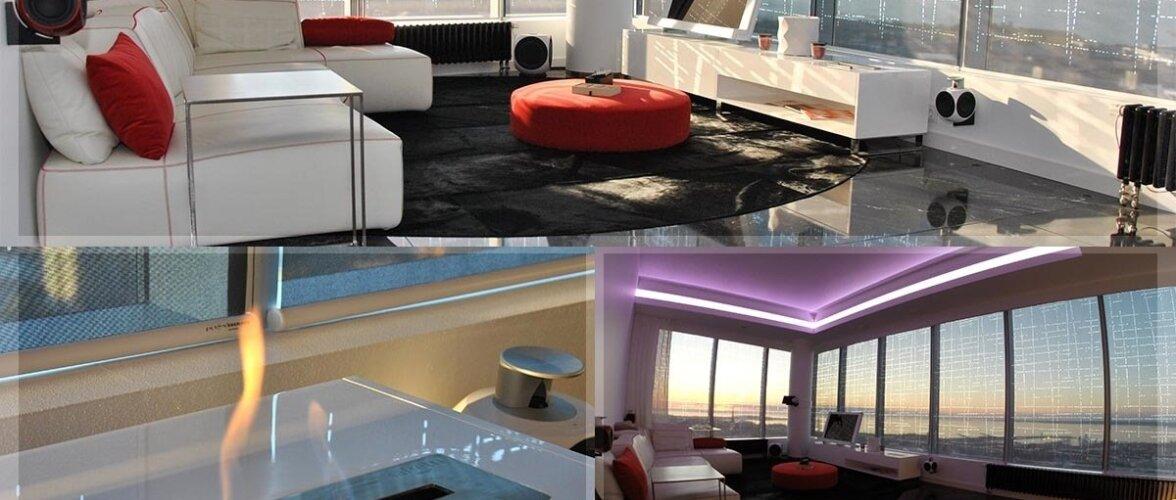 Eesti kõrgeima korterelamu külluslikult luksuslik penthouse on pikitud täis nutilahendusi