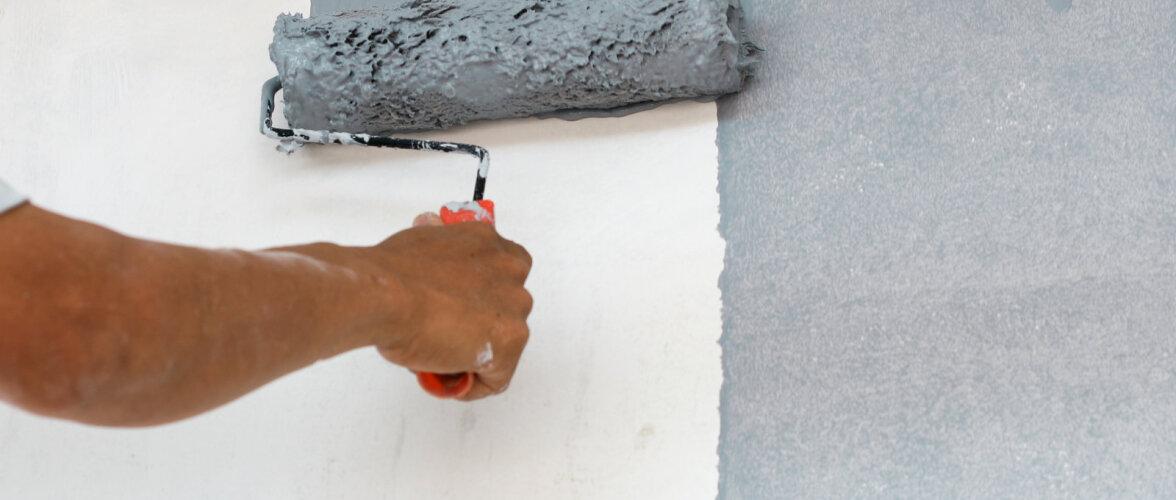 Eelnevalt liim- või lubivärviga töödeldud seinte värvimine. Mille vastu ei tohi eksida?