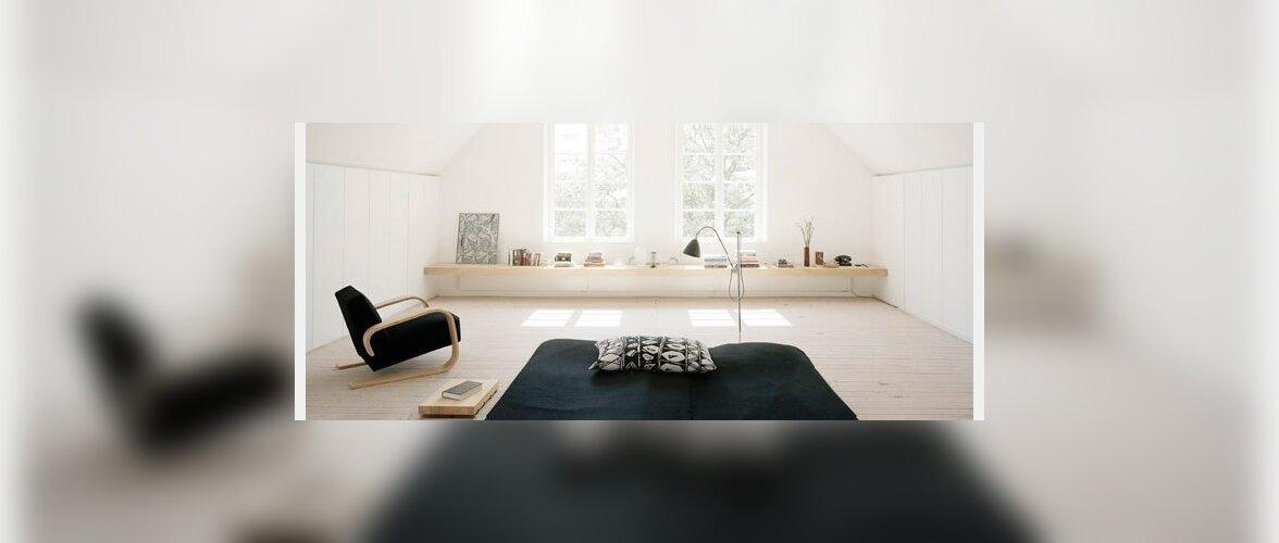 Viis kodu: minimalismist pakatavad interjöörid