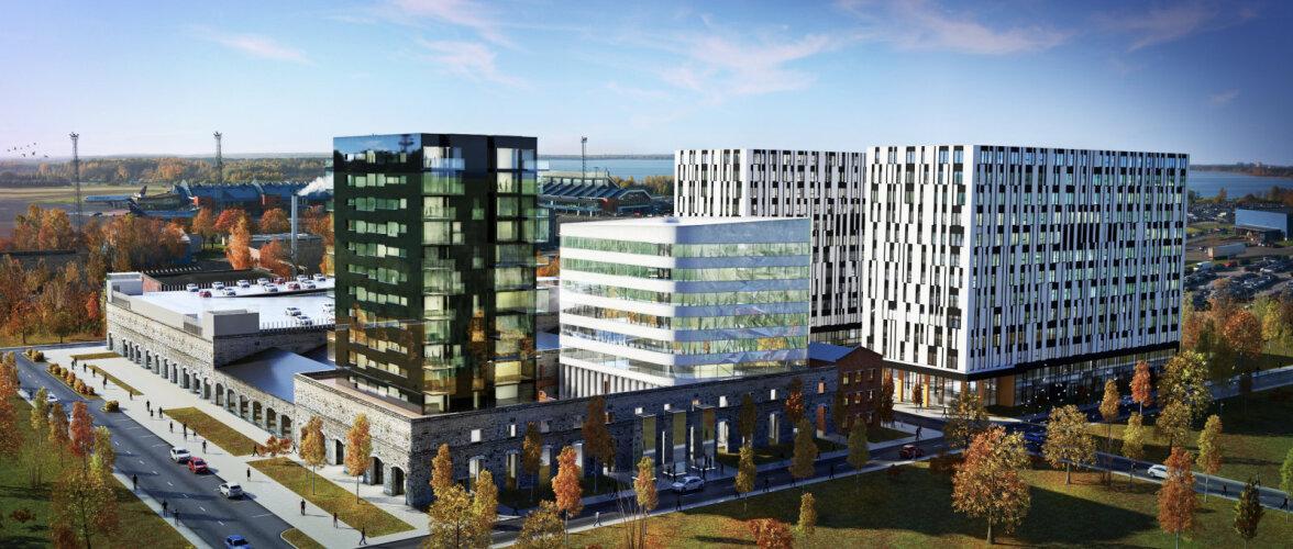 Öpiku paaristornidest saab Eesti suurim kontorihoone. Fassaade ehib tähespekter
