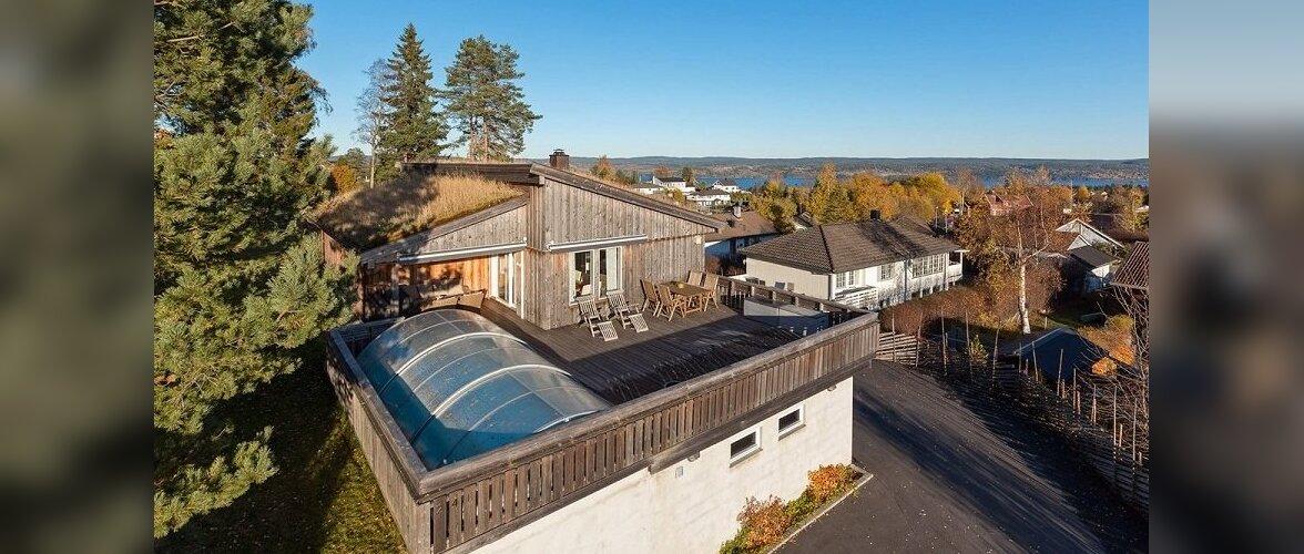 Eestlase kodu välismaal: Mäekünkale rajatud murukatusega elamine Norras