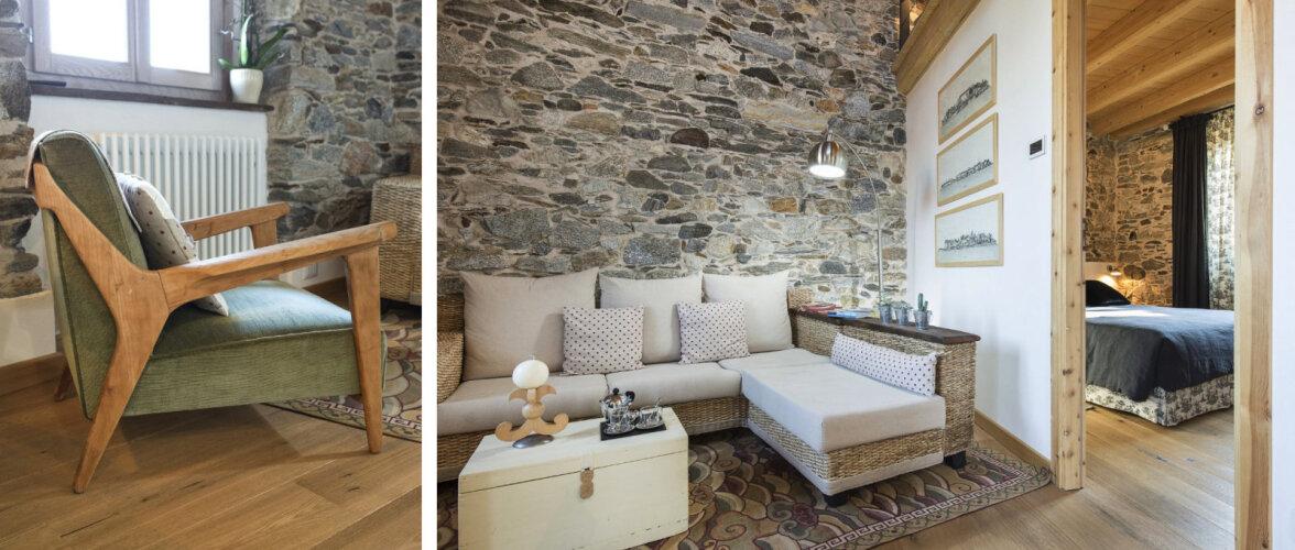 Võluvalt maalähedane kodu, mille interjööri kaunistab looduslik kivi