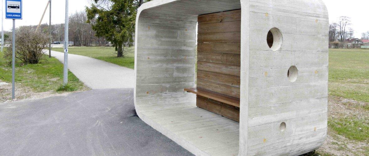 Mees, kes hobi korras rajab unikaalseid betoonist bussipeatusi
