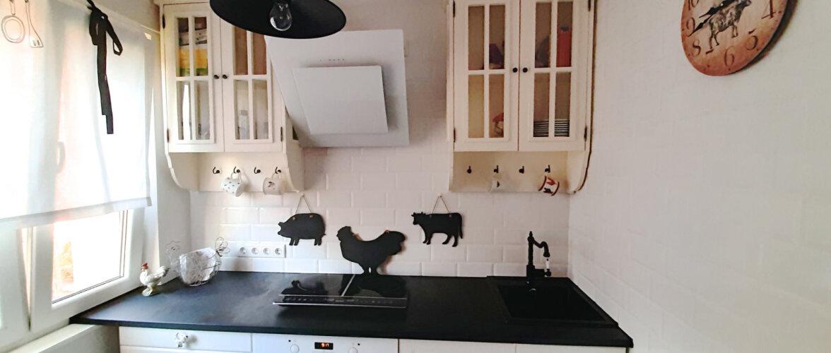"""FOTOVÕISTLUS """"Minu stiilne köök""""   Maakodu stiilis pisike köök Mustamäe paneelmajas"""