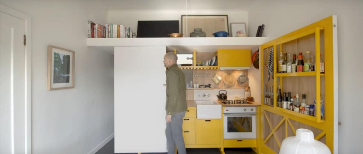 Köögi saab kokku voltida nagu tööriistakomplekti ehk kuidas toime tulla 24 m<sup>2</sup> mikrokorteris