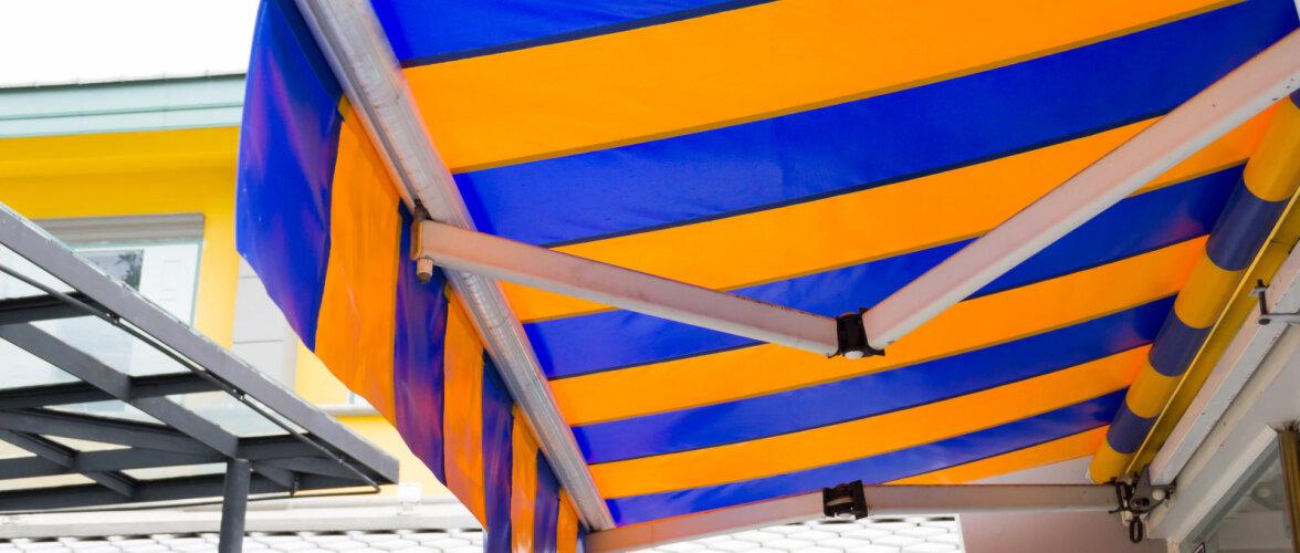 Markiisid kaitsevad maja päikese ja vihma eest