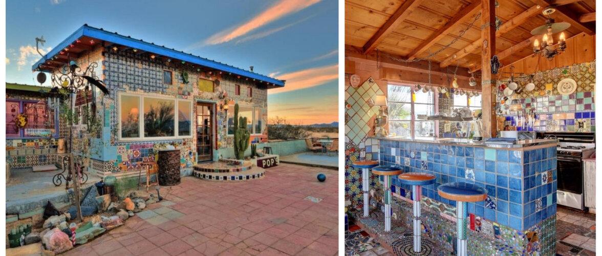 FOTOD | Põnev maja, mille fassaadil ja sisustuses on kasutatud tuhandeid erinevaid keraamilisi plaate