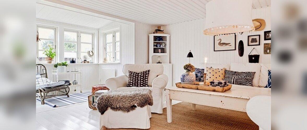 Valge, vana ja väärikas kodu Rootsis.