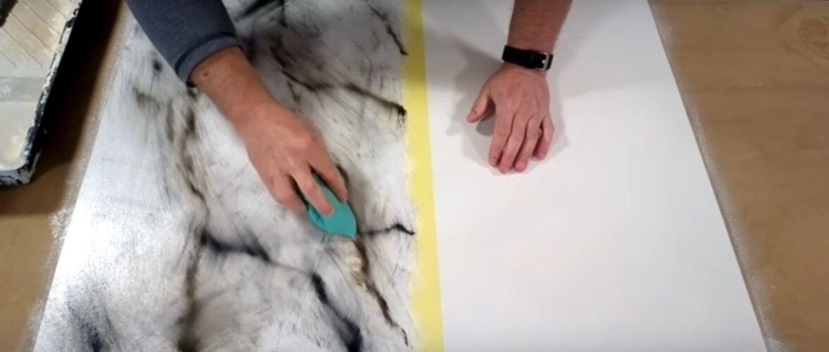 VIDEO | Hea nipp, kuidas linnusule ja värvimistehnikaga luua marmormustri efekt