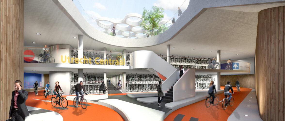 Hollandis avati maailma suurim jalgrattaparkla. Vaata fotodelt, kuidas näeb välja parkimine selles hoones