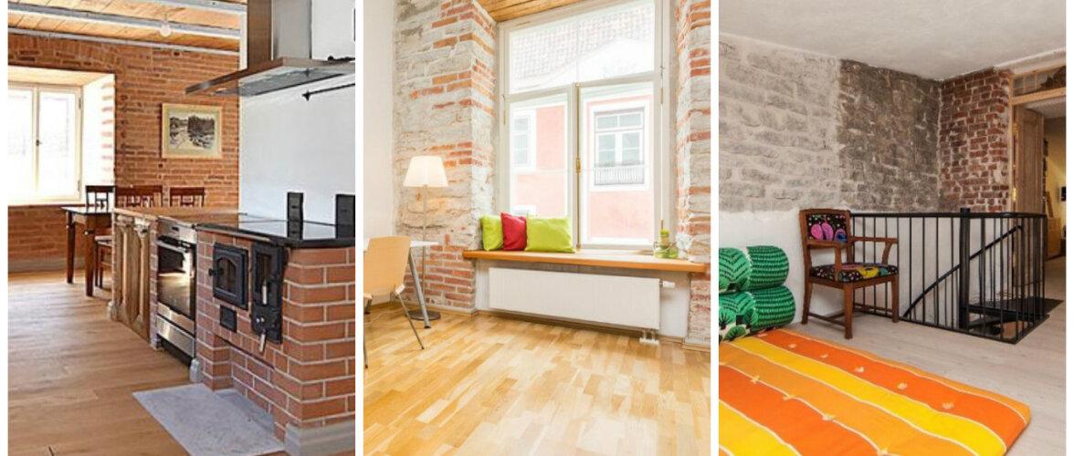 Neli ägedat kodu, kus interjöörile lisab omapära punane tellis
