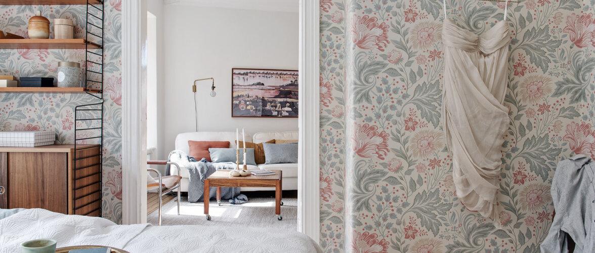 Võluv korter lillelise magamistoa ja suure rõduga