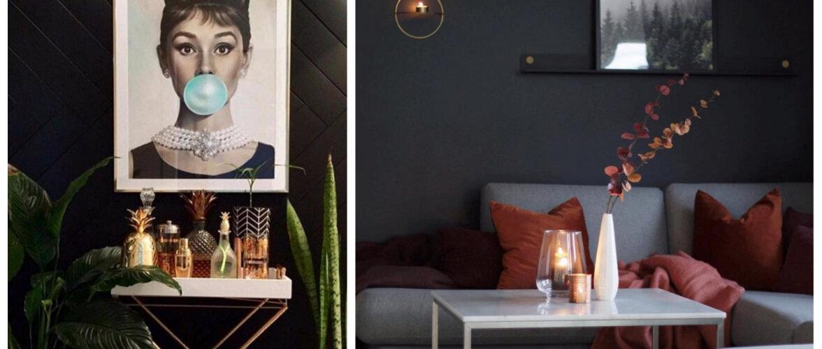 FOTOD │ Musta värvi hurmav maagia koduses interjööris