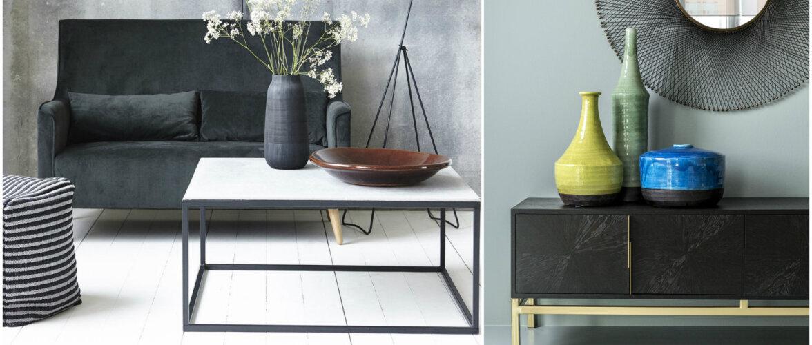 Särav sisustustrend — metallist mööbel ja sisustusaksessuaarid interjööris