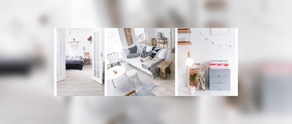 Disaini, taaskasutuse ja käsitööga loodud hubane kodu