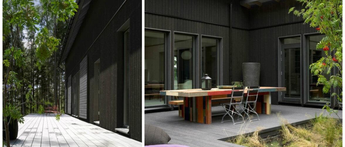 Suviselt hubase terrassiga kodu — eramu nagu heinaküün