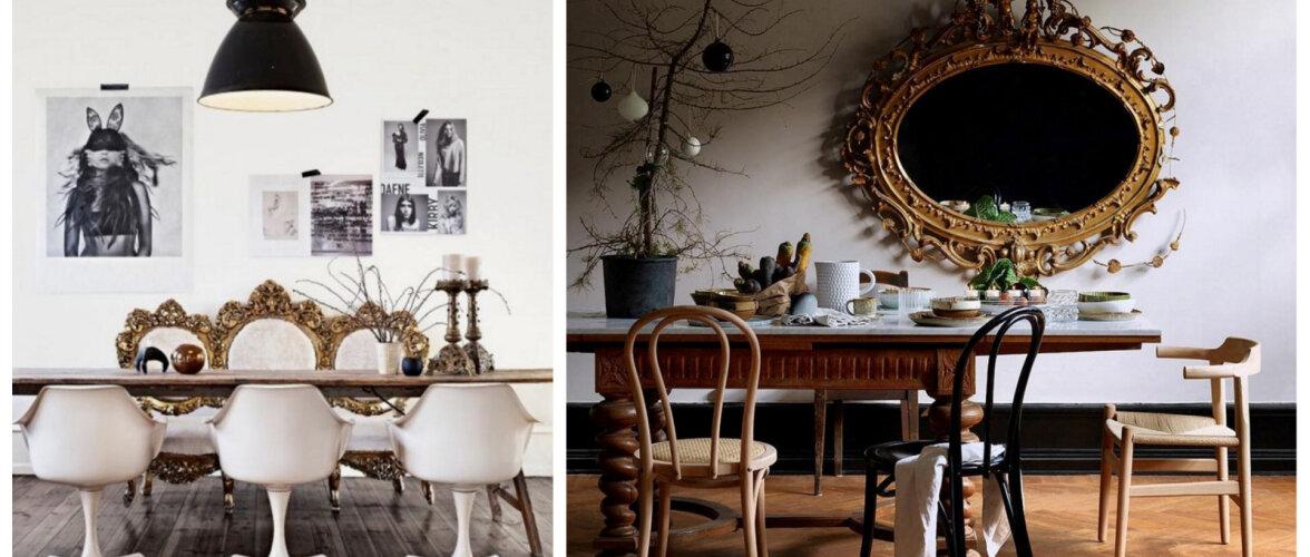 10 lahedat ideed, kuidas antiiki moodsasse interjööri sobitada