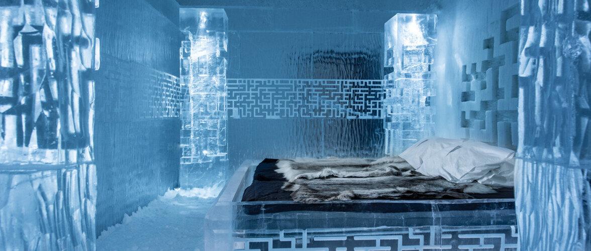 Vaata fotosid maailma kõige kuulsamate jäähotellide tubadest