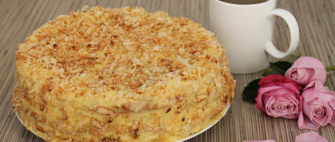 ARVO KOKAKOOL | Napoleoni kook - kreemi valmistamine ja koogi kokkupanek