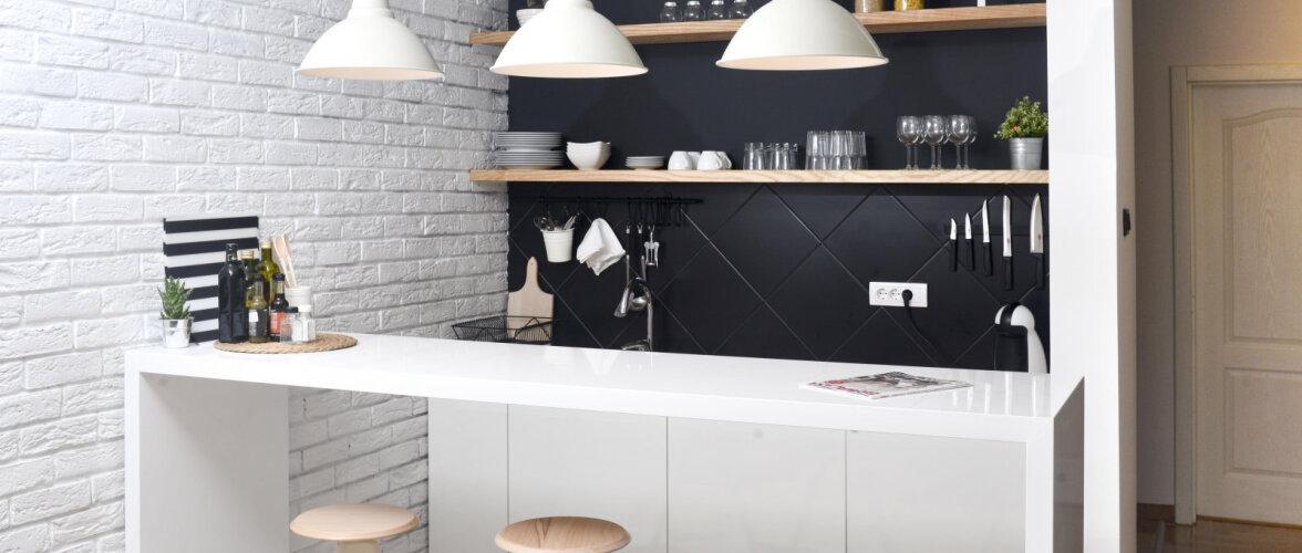 Sisustusnõuanded: väikeses köögis mõtle suurelt ehk kuidas ruumist maksimum võtta