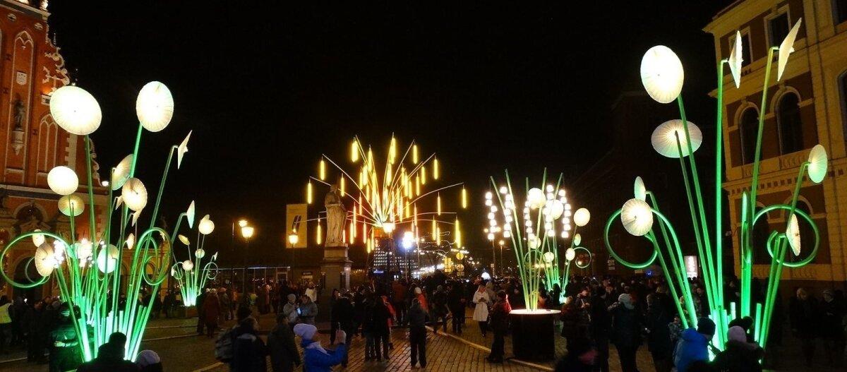 ФОТО: Смотрите, как в Риге проходит Фестиваль света