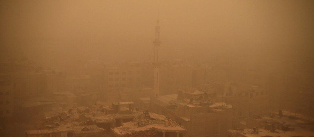 FOTOD: Liibanoni, Süüriat ja Iisraeli tabas suur liivatorm
