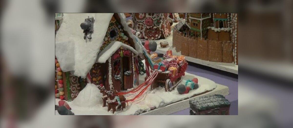 ВИДЕО: В Стокгольме прошли соревнования по строительству пряничных домиков