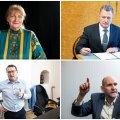 Viljandis sai kohalikel valimistel kõige suurema häältesaagi Helmen Kütt (üleval vasakul), kes sai 875 häält. Teisel kohal on EKRE kandidaat Rein Suurkask (üleval paremal), keda valis 577 inimest. Istuv linnapea Madis Timpson (all vasakul) sai 504 häält. Erakond Isamaa esinumber Helir-Valdor Seedri (all paremal) poolt hääletas kohalikel valimistel 333 inimest.