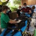 HARULDANE JA PÕHJALIK: Doktor Aleksandr Semjonov vaatab šimpansi hambaid. Diagnoos: tuleb eemaldada kattu ja õppida hambaid pesema.
