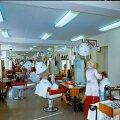 Teenindusmaja juuksurisalong.