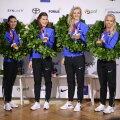 TÄISPIKKUSES ja FOTOD   Kuldsed epeenaised Katrina Lehis, Julia Beljajeva, Erika Kirpu ja Irina Embrich saabusid koju!