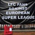 Jalgpallifännid on Superliiga loomise ideele vastu. Teiste seas on protestima asunud ka Liverpooli toetajad.