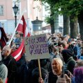 Protest against Covid-19 rules in Riga