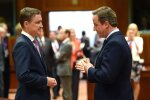 Briti peaminister David Cameron (paremal) pidi teisipäeval ka Taavi Rõivasele selgitama, kuidas ta Suurbritannia Euroopast välja mängis.