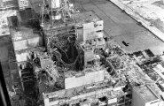 1986. aastal tehtud aerofoto Tšernobõli tuumajaama neljandast, plahvatanud reaktorist.