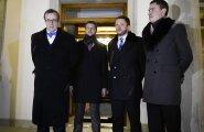 ФОТО и ВИДЕО DELFI: Ильвес дал наставление лидерам коалиционных партий