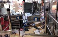 ФОТО и ВИДЕО: Шторм разбросал содержимое магазинов и мебель на судне Tallink