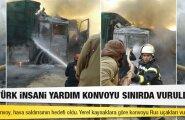 NYT: Venemaa alustas Türgi-Süüria piiri lähistel pommitamist, õhulöögi sai Türgi humanitaarveok