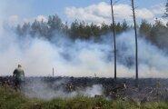 KAART: Eesti-Läti piiri ääres lõõmab suur metsatulekahju, kustutustöid raskendab soine pinnas