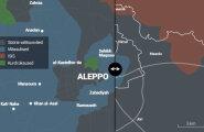 VÕRDLEV SKEEM: Kui lahingud Aleppo all panna üle Tallinna mõõtkavasse