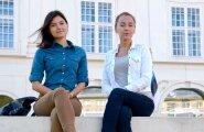 Svetlana Mar (vasakul) ja Darja Lobejeva õppisid eesti keelt juba enne Narva kolledžisse tulekut.