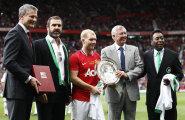 Keskel Eric Cantona, Paul Scholes ja Sir Alex Ferguson