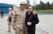 Afganistanist saabunud kaitseväelaste vastuvõtt