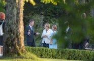 Taavi Rõivas, Luisa Värk ja Angela Merkel Kõltsu mõisas