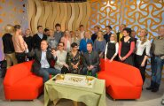 """FOTOD: Palju õnne """"Terevisioon""""! Täna hommikul tähistati Telemajas legendaarse hommikuprogrammi 15. sünnipäeva"""