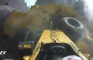 VIDEO: Magnussen tegi Belgia GP-l jubeda avarii