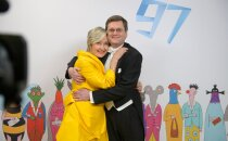 Riigikogu liige Marianne Mikko ja Peter Andrekson